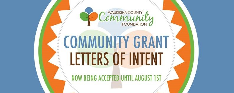 Waukesha County Community Foundation Community grant letters of intent image
