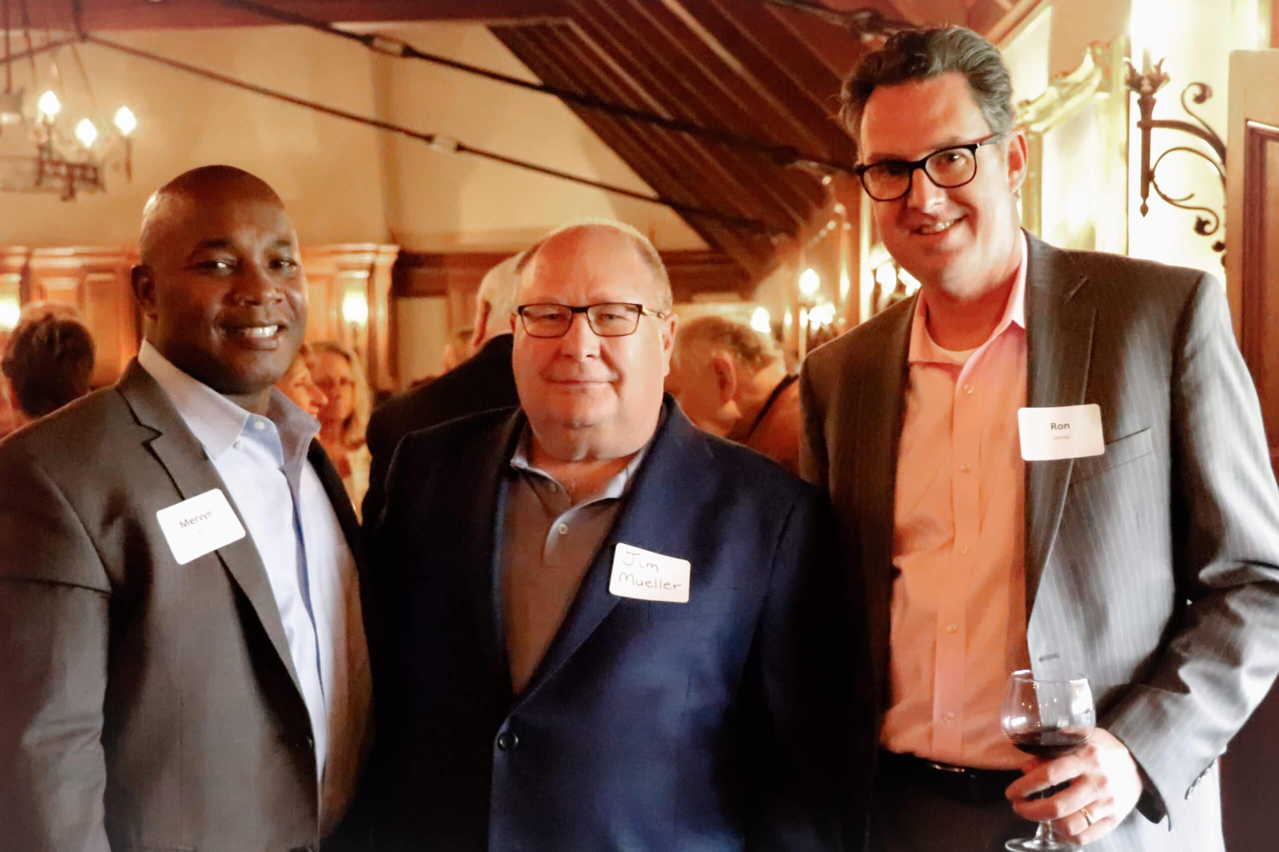 Mervyn Byrd, Jim Mueller, and Ron Jahnke